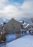 Swiss village of Gruyere in Switzerland Royalty Free Stock Photos