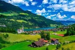 Free Swiss Village Lungern, Switzerland Stock Images - 156096804