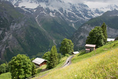 Swiss village. This is a photo of village in Switzerland Royalty Free Stock Images