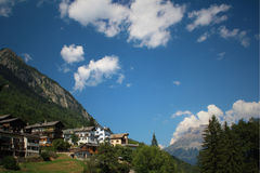 Swiss village. Small mountain village nearby Martigny Stock Images
