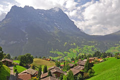 Swiss village in the summer Royalty Free Stock Photo