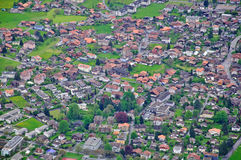 Swiss village top view Royalty Free Stock Image