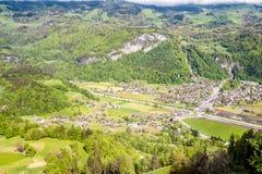 Swiss village in valley near Reichenbach. Switzerland Royalty Free Stock Image