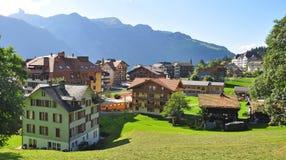 Swiss village Wengen Stock Photos