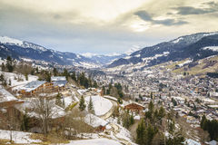 Swiss Village in winter Royalty Free Stock Photography