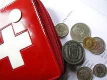 Swiss wallet money in francs
