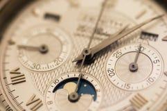 Swiss watch close up stock photo
