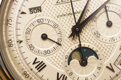Swiss watch close up Royalty Free Stock Photos