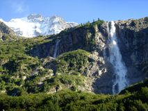 Swiss waterfalls Royalty Free Stock Photo