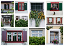 Swiss windows Stock Images