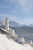 Swiss winter landscape Royalty Free Stock Photography