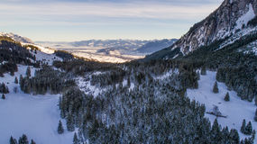 Swiss Winter - Snowy mountains Stock Image