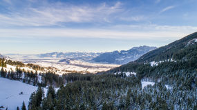 Swiss Winter - Snowy mountains Royalty Free Stock Images