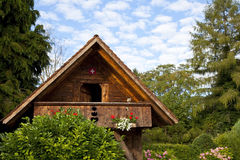 Swiss Wooden Cabin Stock Images