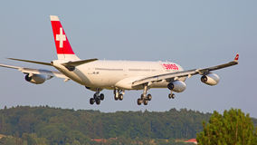 Swiss A-340 Royalty Free Stock Image