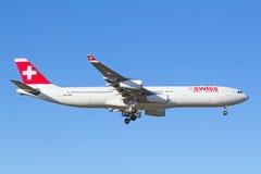 Swiss A-340 Stock Image