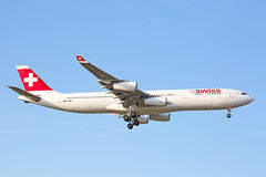 Swiss A-340 Stock Images