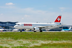 Swissair Airbus A320 Stock Photography