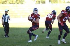 SWISSBOWL XXXI. Quarterback JJDean prepares to pass during SwissBowl XXXI: Bern Grizzlies vs Calanda Broncos 42-35 Stock Photo