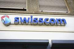 Swisscom Communications-embleem Stock Fotografie