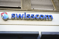 Swisscom Communications logo. Very high resolution, 42.2 megapixels Stock Photography