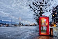 Swisscom telefonbås i Geneva, Schweitz Fotografering för Bildbyråer