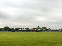 Swit Krzeszowice Stadium, Poland Royalty Free Stock Photography