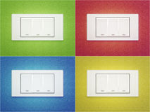 Switch. To the four walls in different colors Vector Illustration