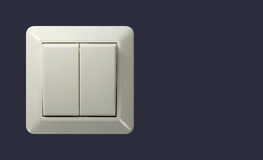 Switch. Light switch with clipping path Stock Photo