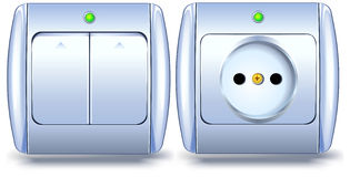 Switch And Socket Stock Photo