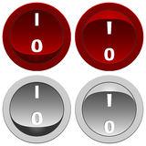 Switch buttons set Royalty Free Stock Photography