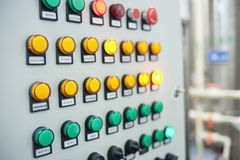 The switch on the cabinet, button Royalty Free Stock Images