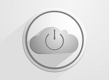 Switch of cloud computing Royalty Free Stock Images
