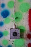 Switch on colorful wall Royalty Free Stock Photography