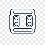 Switch concept vector linear icon isolated on transparent background, Switch concept transparency logo in outline style stock illustration