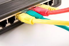 Switch with connected cables Stock Image