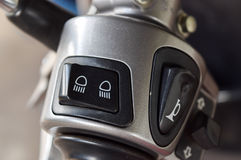 Switch control headlilight and turn signal of motorcycle Royalty Free Stock Photography