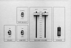 Switch and control sound audio Royalty Free Stock Photos