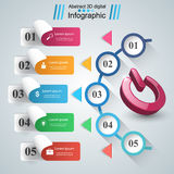 Switch icon. Abstract business infographic. Royalty Free Stock Photography
