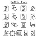 Switch icon set in thin line style. Vector illustration graphic design vector illustration