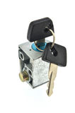 Switch key lock. motorcycle Stock Images