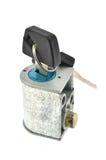 Switch key lock. motorcycle Stock Photo