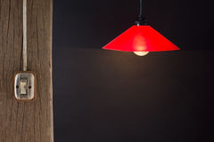 Switch and lamp Stock Images