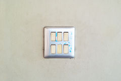 Switch light on wall with soft light Royalty Free Stock Image