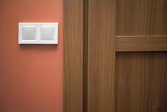 Switch next to the doorway Stock Photos
