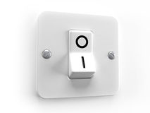 Switch OFF. For lighting system control - 3d image Royalty Free Stock Images
