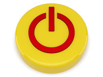 Switch on-off. Yellow switch on-off on white background Royalty Free Stock Image
