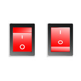 Switch on off. Button in two position vector royalty free illustration