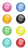 Switch off Buttons. Vector EPS Royalty Free Stock Photos