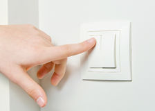 Switch off light Royalty Free Stock Photo